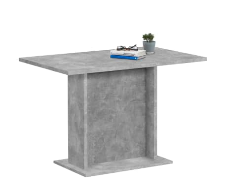 FMD Table de salle à manger 110 cm Gris béton