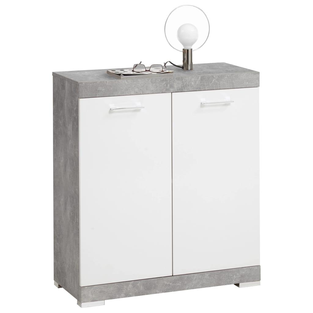 FMD Prádelník se 2 dvířky 80 x 34,9 x 89,9 cm bílý a betonový