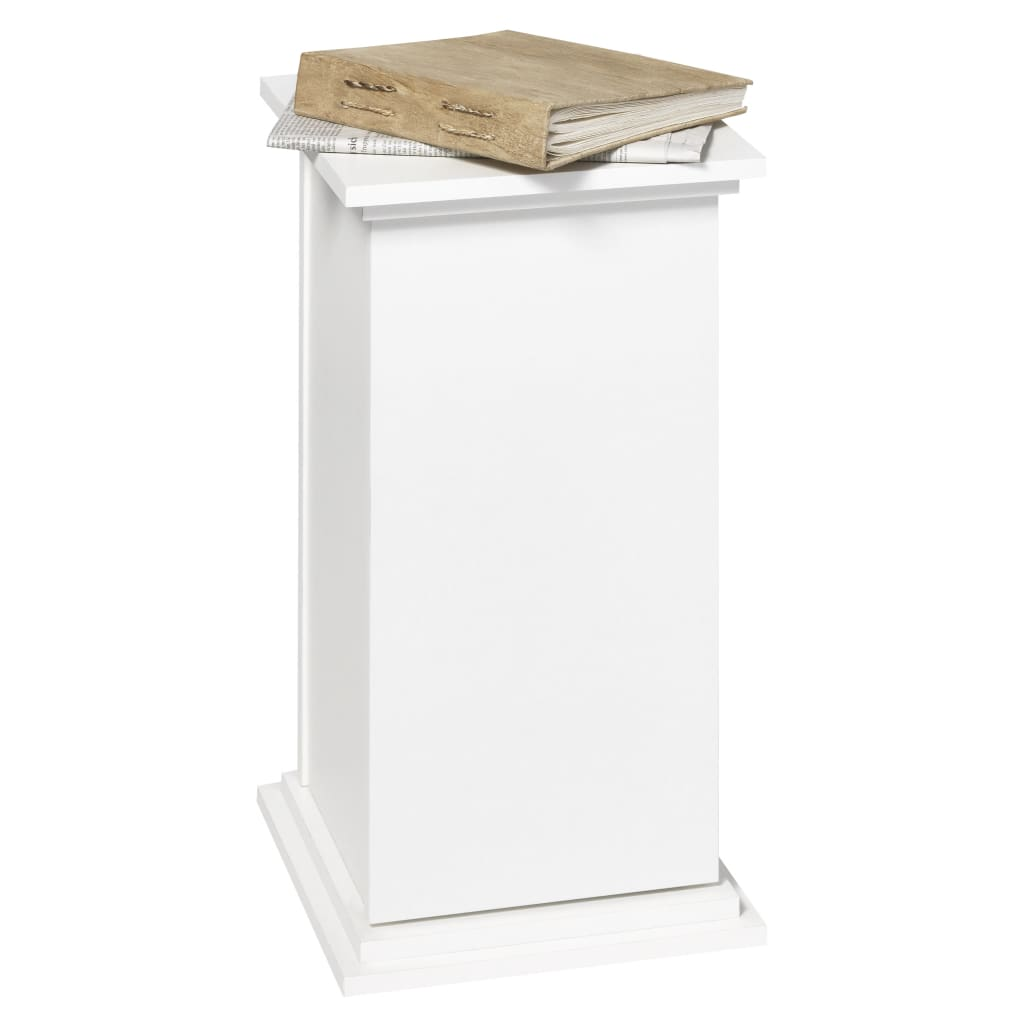 FMD Stolik boczny z drzwiczkami, 57,4 cm, biały