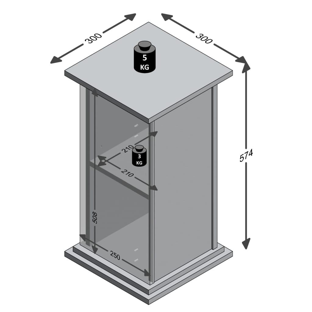 FMD Bijzettafel met deur 57,4 cm eikenkleurig