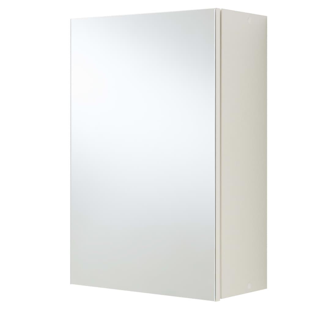 FMD Dulap de baie cu oglindă, alb vidaxl.ro