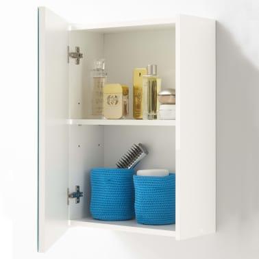 FMD Armoire de salle de bain avec miroir Blanc[2/3]