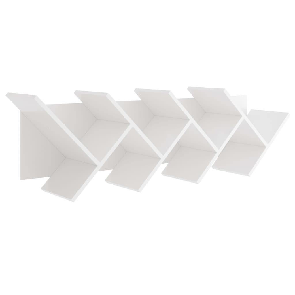 FMD Mensola a Muro Design Geometrico Bianca