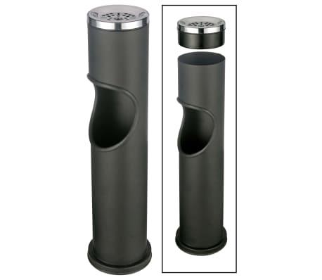 HI Poubelle cendrier Noir 46,5 cm
