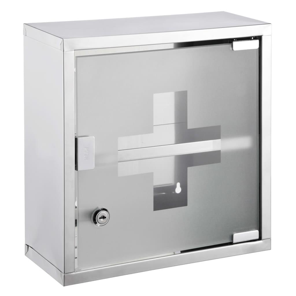 HI Armadietto per Medicinali 30x12x30 cm in Acciaio Inossidabile