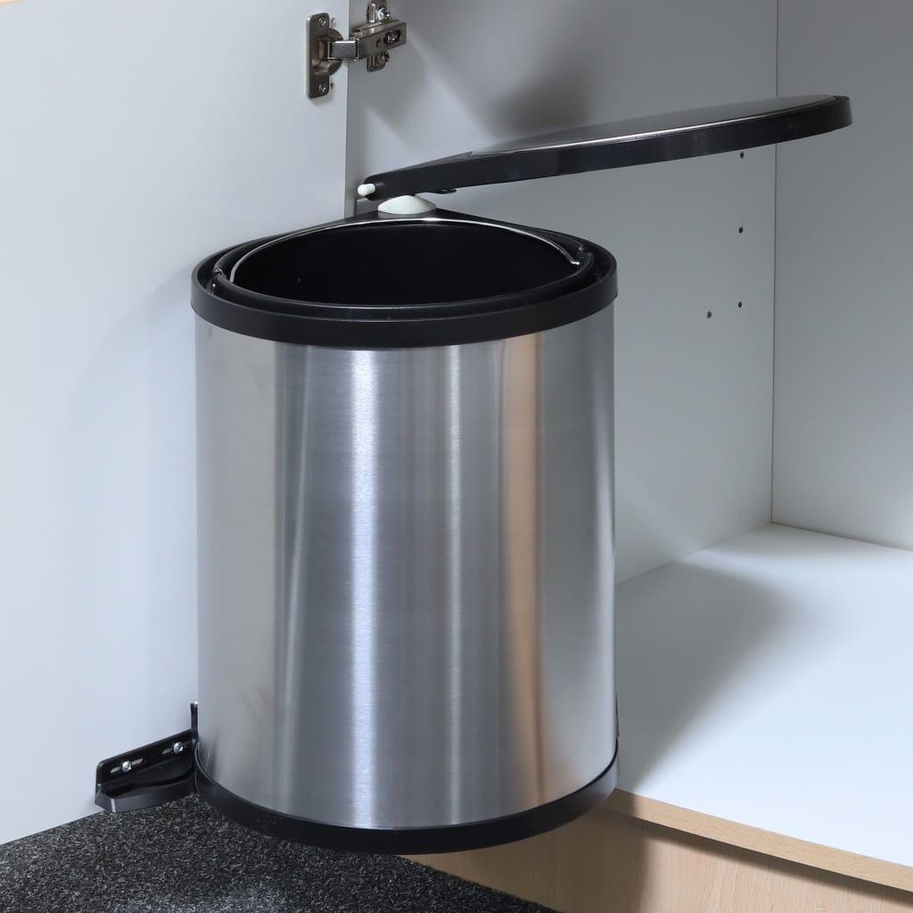 HI Coș de gunoi încorporat 12 litri poza vidaxl.ro