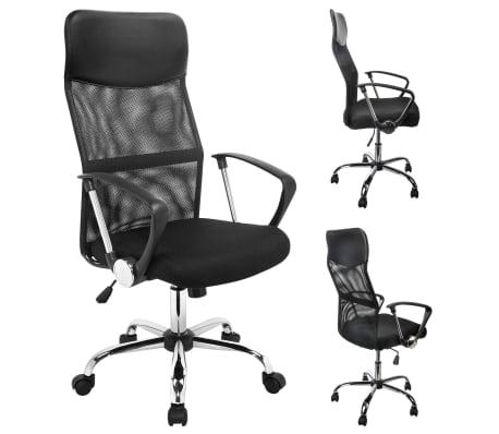 HI Chaise de bureau Noir Acier