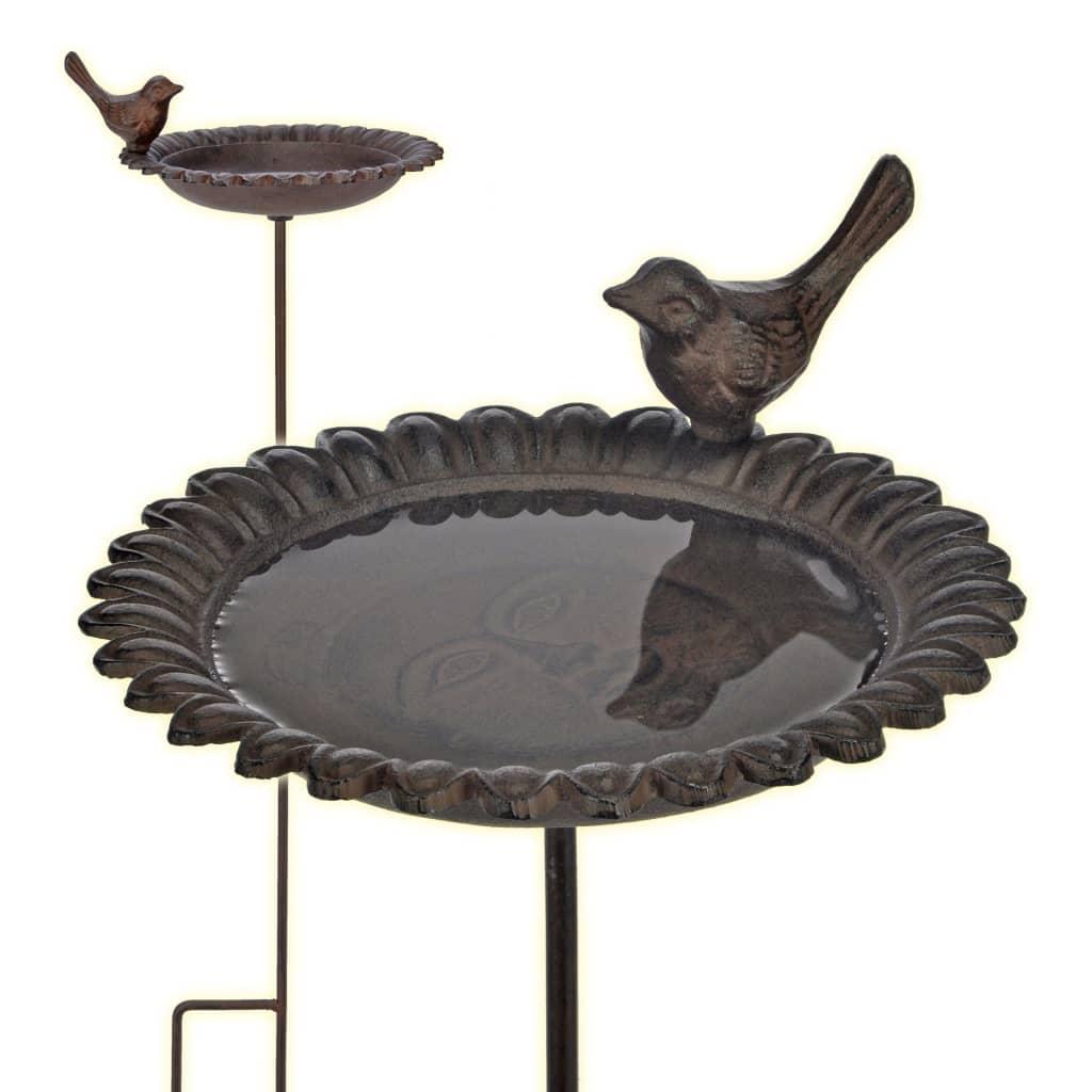 HI Bazin pentru păsări, adăpătoare/scăldătoare, maro, fontă poza vidaxl.ro