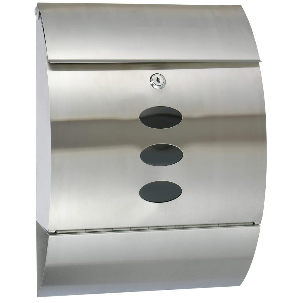 HI Poštovní schránka nerezová ocel 30 x 12 x 40 cm
