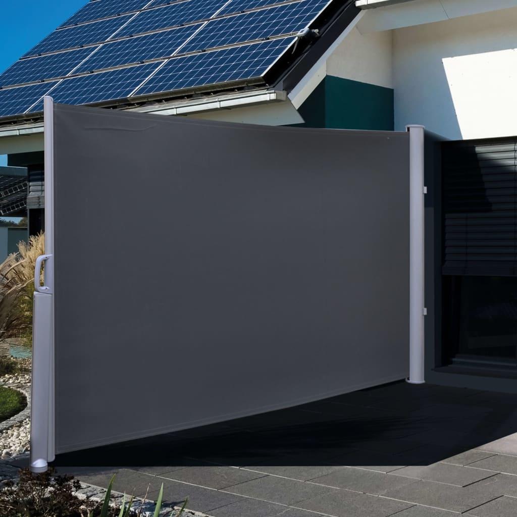 99423919 HI Seitenmarkise 3×1,6 m Schwarz Polyester