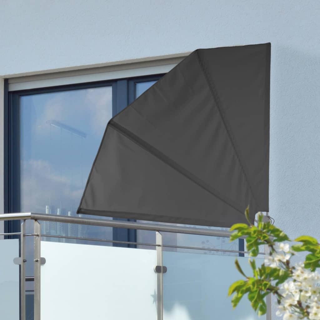 99423920 HI Balkonfächer 1,2 ×1,2 m Schwarz Polyester