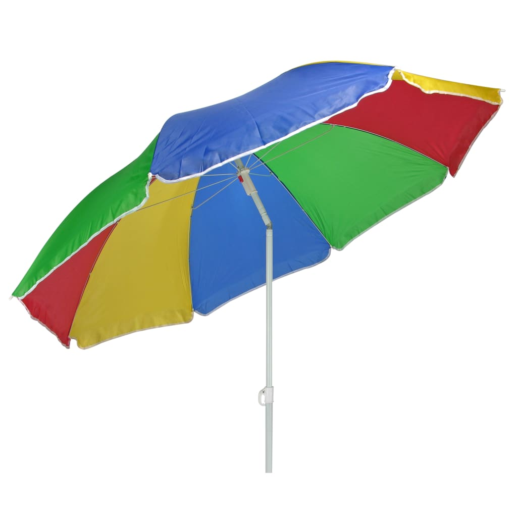 HI Umbrelă de soare de plajă, multicolor, 150 cm vidaxl.ro
