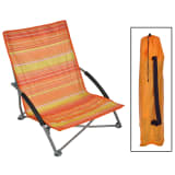 HI Chaise de plage pliable Orange 65x55x25/65 cm