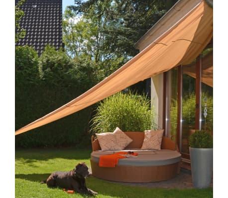 HI Voile de parasol triangulaire 5 x 5 x 5 m Beige