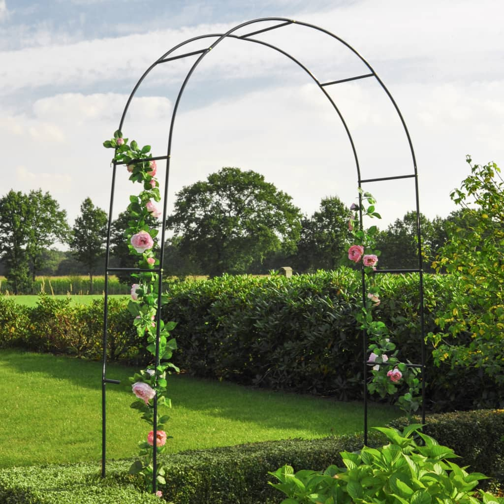 HI Arcadă de trandafiri, verde, 140 x 38 x 240 cm, oțel imagine vidaxl.ro