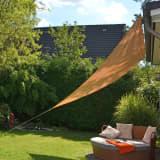 HI Sonnensegel Dreieckig 3,6 x 3,6 x 3,6 m Beige