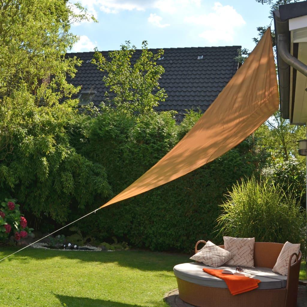 99423917 HI Sonnensegel Dreieckig 3,6 x 3,6 x 3,6 m Beige