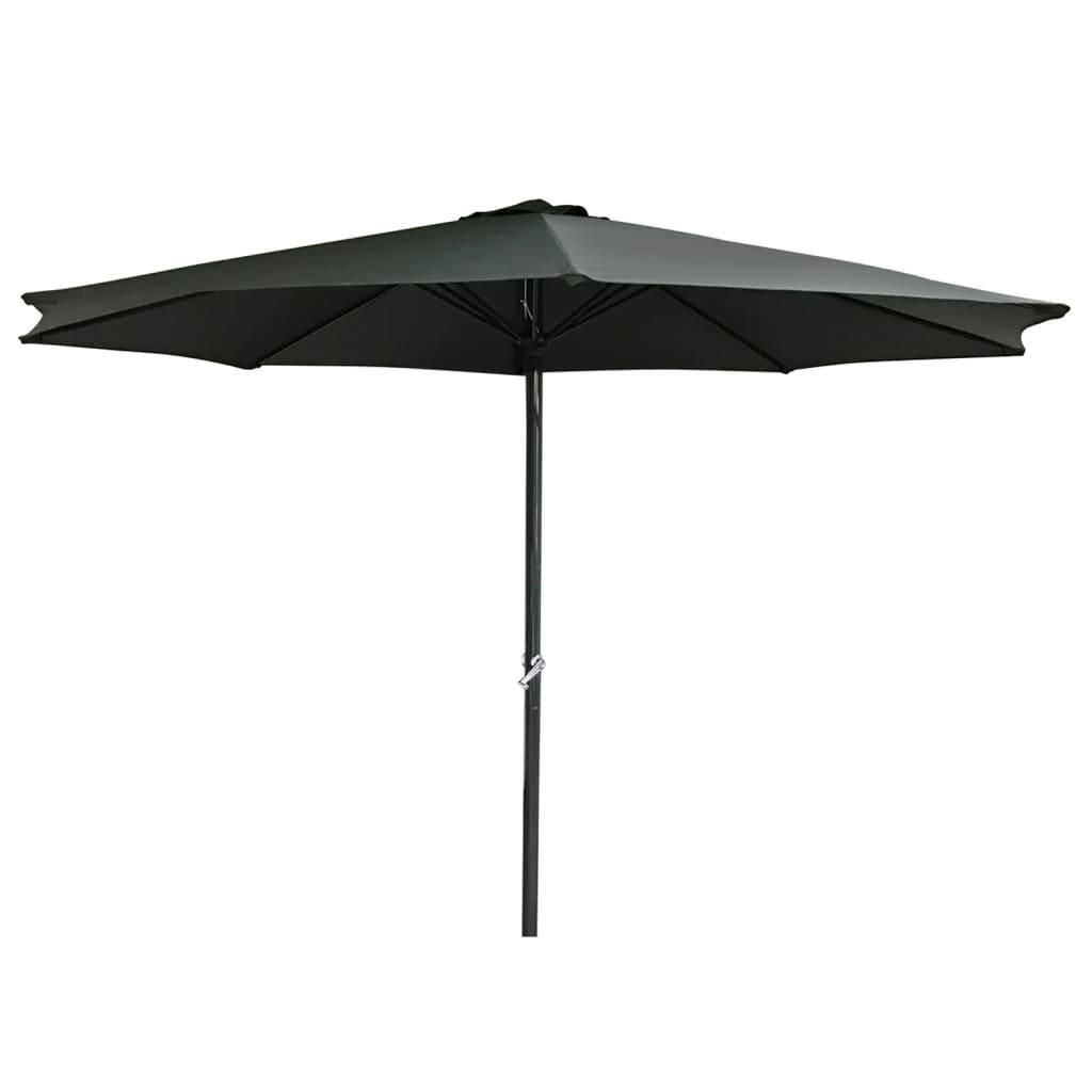 HI Umbrelă de soare din aluminiu, antracit, 3 m, UV50 + vidaxl.ro