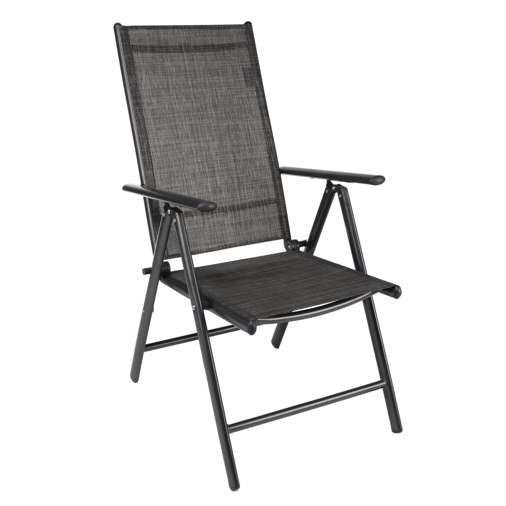 HI Chaise de jardin inclinable Aluminium Gris