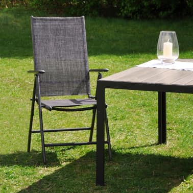 HI Chaise de jardin inclinable Aluminium Gris[2/2]