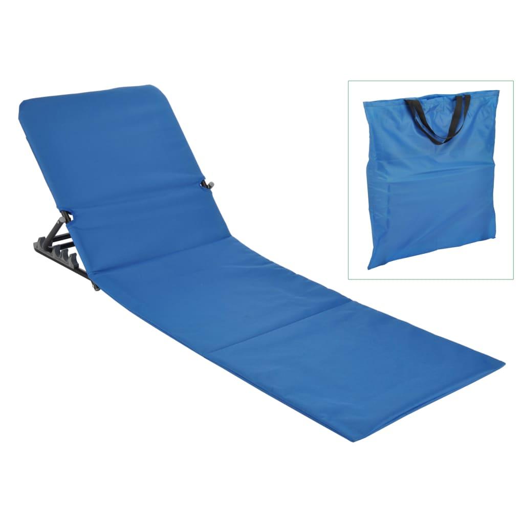 HI Στρώμα – Ξαπλώστρα Παραλίας Πτυσσόμενο Μπλε από PVC