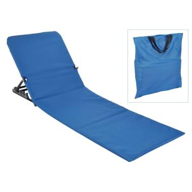 HI Chaise tapis de plage pliable PVC Bleu[1/5]