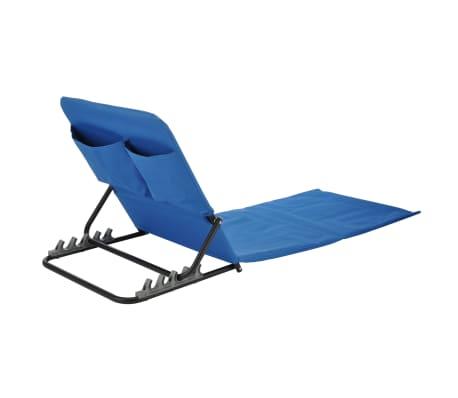 HI Chaise tapis de plage pliable PVC Bleu[3/5]