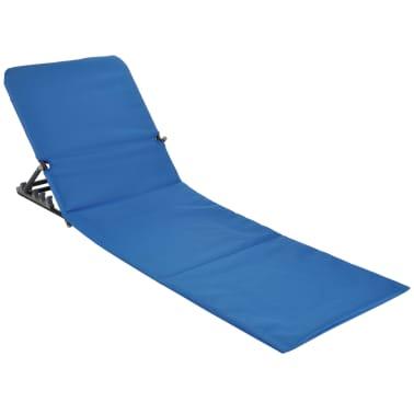 HI Chaise tapis de plage pliable PVC Bleu[2/5]