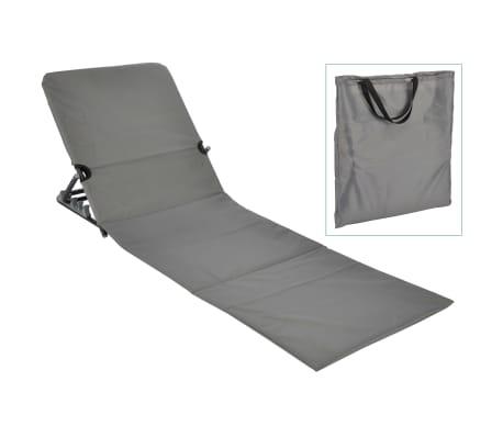 HI Chaise tapis de plage pliable PVC Gris