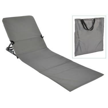 HI Chaise tapis de plage pliable PVC Gris[1/5]
