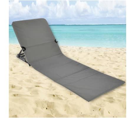 HI Chaise tapis de plage pliable PVC Gris[5/5]
