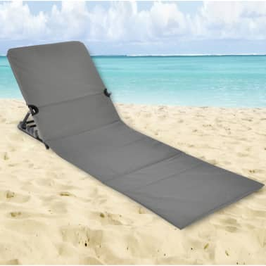 HI Chaise tapis de plage pliable PVC Gris[2/5]