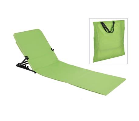 HI Chaise tapis de plage pliable PVC Vert