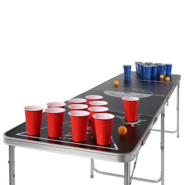 HI Sulankstomas Beer Pong žaidimo stalas, juodas, regul. aukščio[3/3]