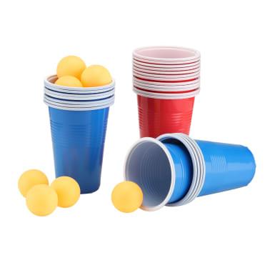 HI Ensemble de bière-pong Rouge Bleu Jaune 0,5 L Plastique[1/2]