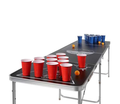 HI Ensemble de bière-pong Rouge Bleu Jaune 0,5 L Plastique[2/2]