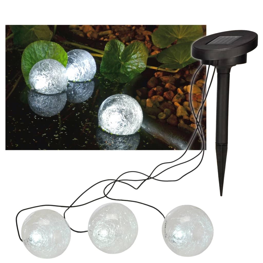 HI Lampă de iaz solară cu LED plutitoare, 9 cm poza 2021 HI