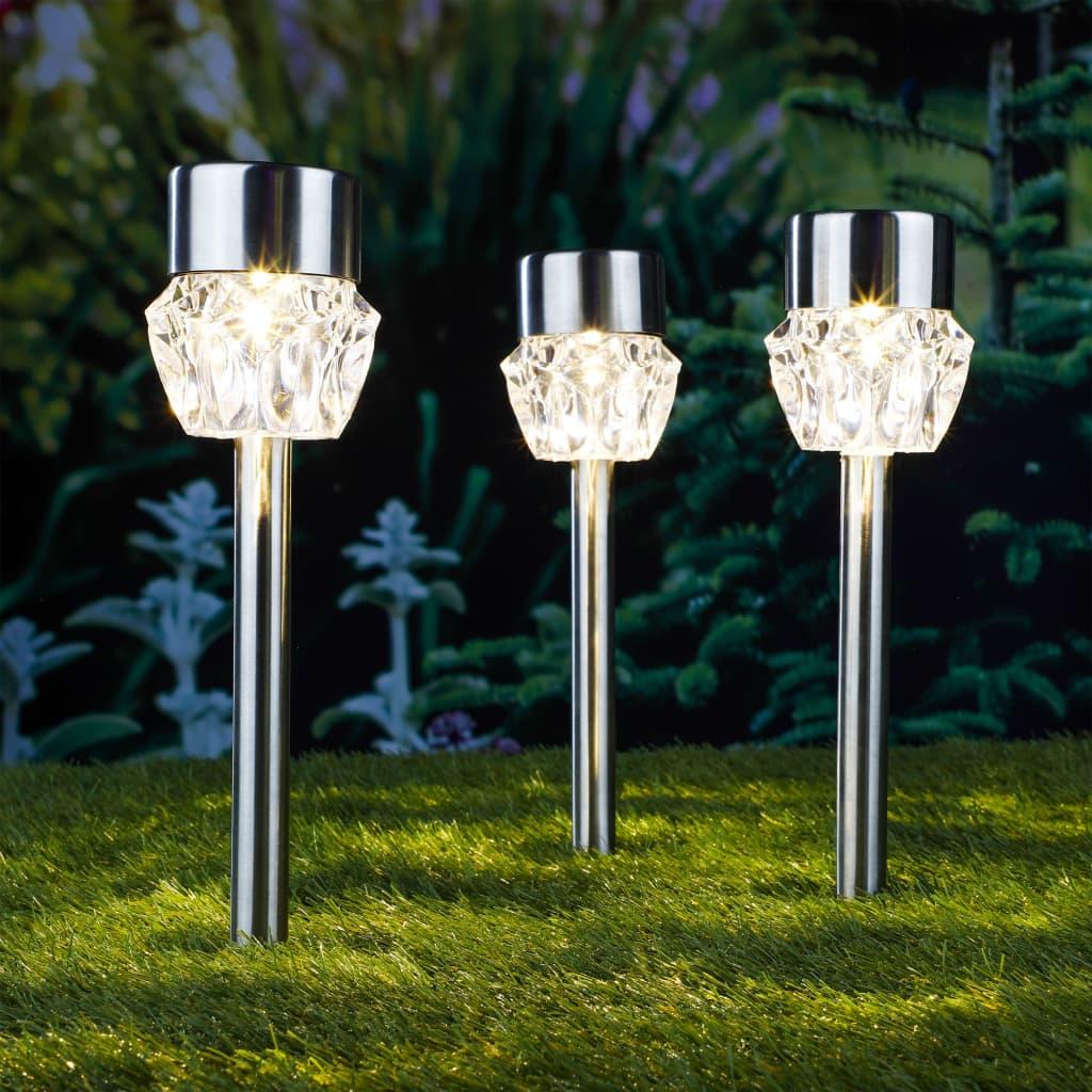 HI Padverlichting solar LED 3 st kristal