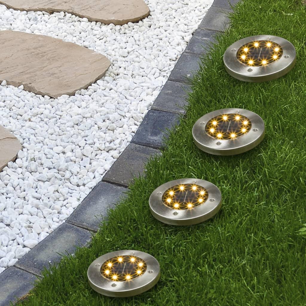HI LED-Solar-Bodeneinbauleuchten 4 Stk.