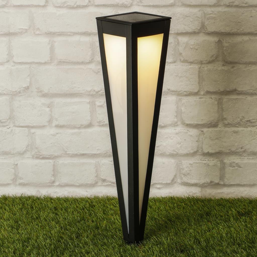 HI LED-Solar-Gartenleuchte 58 cm Schwarz