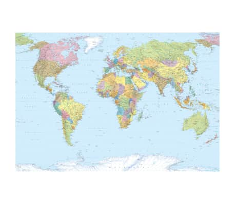 Komar Fotobehang World Map XXL 368x248 cm XXL4-038