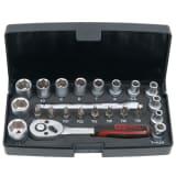 Zestaw kluczy nasadowych KS Tools, 23 części 1/4 cala