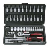 Zestaw kluczy nasadowych KS Tools, 46 części 1/4 cala