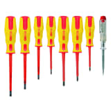 KS Tools 8 Piece Screwdriver Set with Insulated Voltage Tester