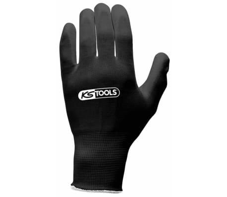 KS Tools Gants de travail 12 paires Taille L Noir 310.0470[3/3]