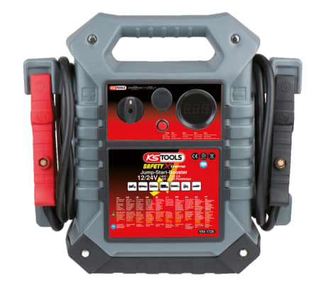 KS Tools Arrancador/ Amplificador coche, 12V / 24V, 1400/700 A[2/2]