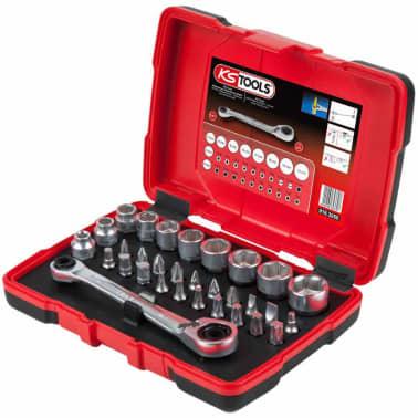 KS Tools Jeu de clé à cliquet, douille et embout 31 pcs 11 mm 918.3050[1/5]