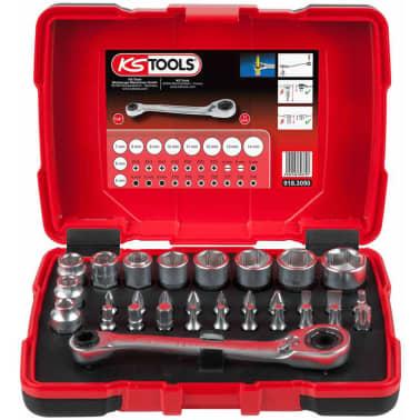 KS Tools Jeu de clé à cliquet, douille et embout 31 pcs 11 mm 918.3050[2/5]