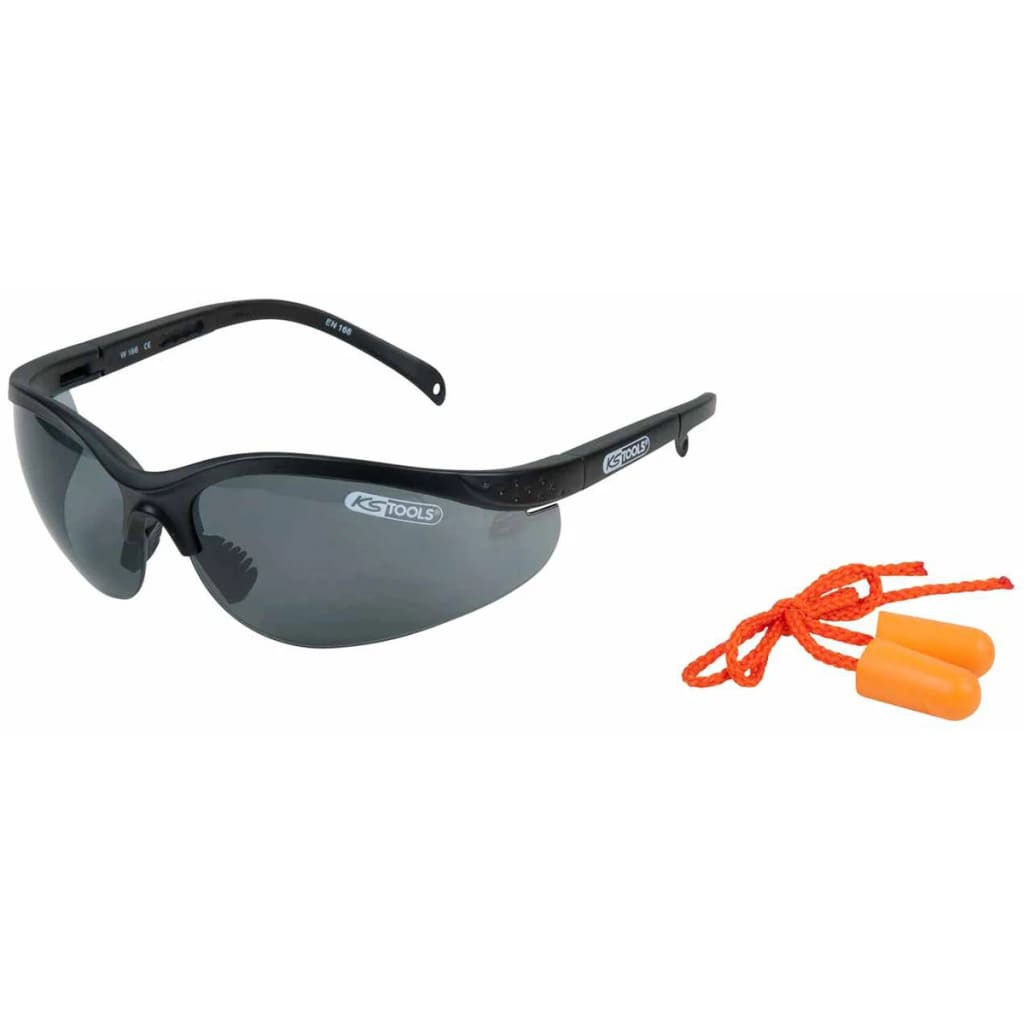 Afbeelding van KS Tools Veiligheidsbril met oordopjes grijs 310.0171