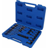 BRILLIANT TOOLS 25 Piece Screw Extractor. Drill and Guide Kit
